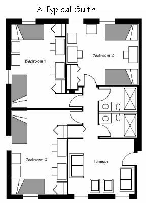 College Dorm Room Floor Plans Sketch Coloring Page